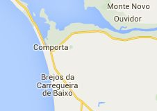 Map of comporta portugal