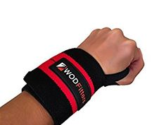 Wrist Support Wrap Pair With A Hook & Loop Closure By WODFitters – Sturdy, Soft Material – Maximum Tightness & Full Movement Range – Ideal For Powerlifting, Weightlifting, Boxing, MMA, Cross Training