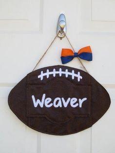 Football Door Hanger- Custom