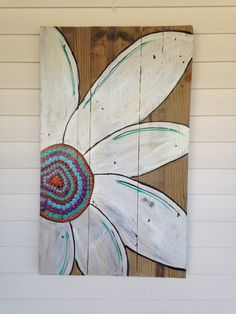 Rustic daisy that looks amazing on the porch or anywhere outside. I didnt want this piece to be perfect but to have a rustic old world charm. It