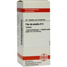 FLOR DE PIEDRA D 4 Tabletten:   Packungsinhalt: 80 St Tabletten PZN: 02114506 Hersteller: DHU-Arzneimittel GmbH & Co. KG Preis: 5,95 EUR…