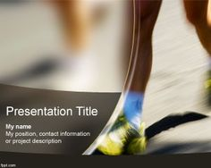 Free Marathon PowerPoint Template for sports presentations