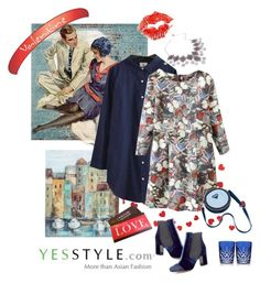 """RetroValentine's Style with Yesstyle"" by carola-corana ❤ liked on Polyvore featuring Safavieh, Rosadame, Chicsense, Seirios, Tabitha Simmons, Waterford, women's clothing, women, female and woman"