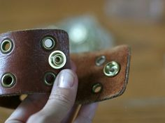 Diy leather cuff from old belt