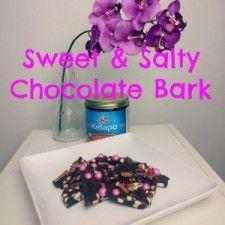 Pretzel Chocolate Bark made with Kelapo Coconut Oil. Great DIY gift for mom!