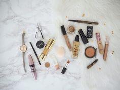 Speedy Makeup Routines for Day & Night | Jasmine Talks Beauty  #bblogger #bbloggers #makeup #makeupaddict #beauty #fotd #flatlay #ukblogger #discoverunder100k #hourglasscosmetics #beccacosmetics #loreal #hudabeauty #nars #esteelauder #glossier #maybelline #beautyblender #blush #foundation #liquidlipstick #contour #glam