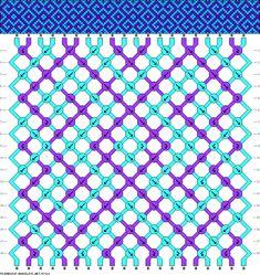 Geometric tapestry, 2 colors. #57121 from friendship-bracelets.net