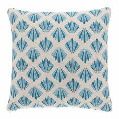 Periya cushion - this pretty print reminds us of art deco motifs