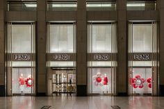 The Fendi Landmark boutique in Hong Kong displaying the colorful Flowerland collection!
