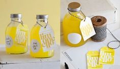 Wedding favors can not necessarily be traditional so, add a touch of whimsy by gifting something funny but useful. Today, we have a fun wedding favor that can really make your guests feel happy - homemade limoncello wedding Favors . These homemade limonce Wedding Favors And Gifts, Homemade Wedding Favors, Party Favors, Yellow Wedding Favors, Shower Favors, Wedding Favor Inspiration, Makeup Inspiration, Homemade Limoncello, Limoncello Recipe