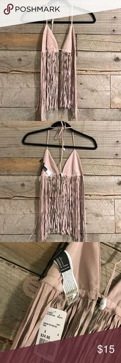 Forever 21 Leather Fringe Top BNWOT No defects & no trades 💓perfect for festivals! Free People Tops
