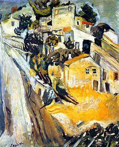 Chaim Soutine, Landscape of Cagnes on ArtStack #chaim-soutine #art