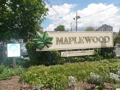 Welcome to Maplewood sign on Springfield Avenue