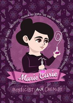Marie Curie women in science poster STEM gift | Etsy Marie Curie, Nobel Prize In Chemistry, Nobel Prize In Physics, Stem Science, Science Art, Science Icons, Science Chemistry, Chemistry Posters, Behance Net