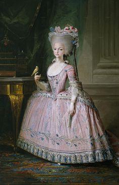 Dona Carlota Joaquina Teresa Caetana de Bourbon e Bourbon, 10 years old, future Queen of Portugal and Princess of Spain, Mariano Salvador Maella, 1785
