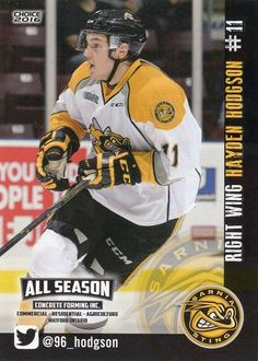 OHL grad Hayden Hodgson has signed with HC Detva in Slovakia's Extraliga. Hodgson played in the Ontario Hockey League with the Otters, Sting and Spirit. Hockey Cards, Baseball Cards, Westies, Cousins, Ontario, Terrier, December, Signs