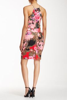 Alexia Admor Printed Scuba Sheath Dress