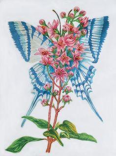 Blue Butterfly - Silk Art Silk Art, Blue Butterfly, Nature Animals, Whimsical Art, Sunshine, Coloring, Inspiration, Biblical Inspiration, Nikko