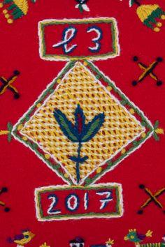 Woollen embroidery design by Elin Jantze yllebroderi - enhörningen och katten