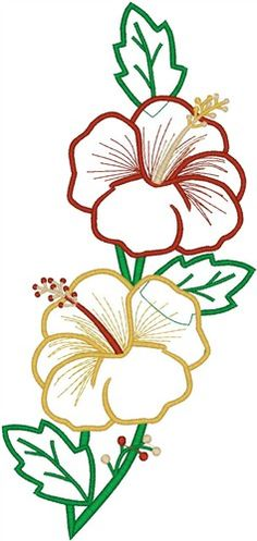 Tropical Flower Blooms embroidery design Bird Tattoo Ribs, Bird Tattoo Back, Bird Silhouette Tattoos, Flower Silhouette, Bird Embroidery, Machine Embroidery Designs, Embroidery Stitches, Tropical Birds, Tropical Flowers