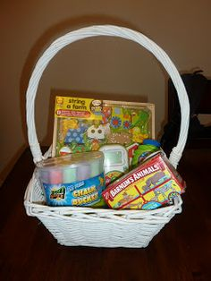 Easter baskets for a 2 year old girl on the left and a 9 month old easter basket ideas for an 18 month old life with a toddler negle Choice Image