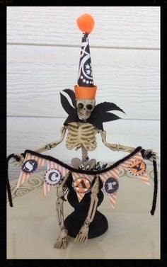 Cute Halloween Assemblage Halloween Decoration by JeanKnee on Etsy, $12.00