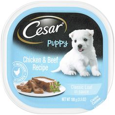 Cesar Gourmet Puppy Wet Dog Food, Pack of 24 ** Be sure to check out this awesome product. (This is an affiliate link) Classic Chicken Recipe, Chicken And Beef Recipe, Best Puppies, Small Puppies, Beef Recipes, Dog Food Recipes, Food Tips, Best Puppy Food, Wet Dog Food