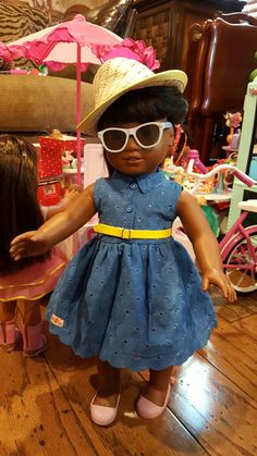I am sooooooooo in love with with incredible detail outfit from Target Our Generation Brand for 17.99 before tax. It is so incredible, I have to have 1 more for Tenny Grant.  This would look incredibly with Tenny's Picnic Set. Melody is feeling   fabulous in it.