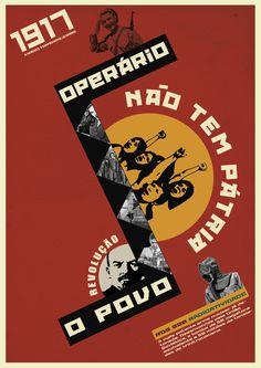 Cartaz Construtivismo Russo Revolução - 1917 Design - Cristiano Hunning