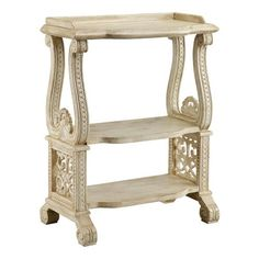 I pinned this Laird Accent Table from the Comfortable Luxury event at Joss and Main! Interior And Exterior, Interior Design, French Country Decorating, Bath, My Living Room, Wood Colors, Joss And Main, Open Shelving, My Dream Home