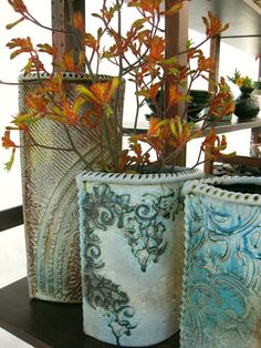 Wicked Wednesday's WOW!! Gary Jackson's Slab Vases - A Love Affair With Clay