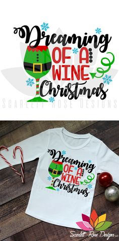 Christmas SVG, Dreaming of a Wine Christmas, Elf Glass cut file for silhouette cameo and cricut vinyl cutting machines. Christmas Aprons, Christmas Bags, Christmas Shirts, Christmas Crafts, Xmas, Christmas Labels, Christmas Ideas, Christmas Stencils, Christmas Vinyl