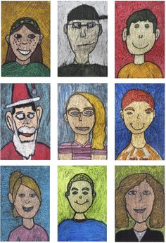 first grade self portraits kids self portrait lesson kinder self
