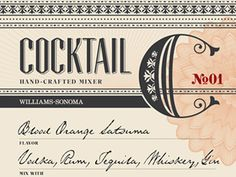Cocktail Mixer label by Michael Hester