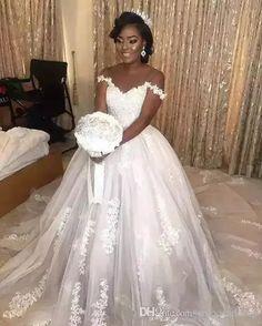 d8ed92b80a6cc Sexy Off the Shoulder Wedding Dresses Lace Bridal Gowns Saudi Arabic Bridal  Dress African Dubai Plus Size Wedding Ball Gowns Sweep Train