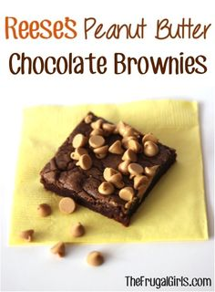 Reese's Peanut Butter Chocolate Brownies