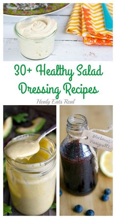 30 Homemade Healthy Salad Dressing Recipes (Paleo, Dairy-Free) @ Healy Eats Real