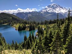 [OC] Mt. Rainier and Eunice Lake from Tolmie Peak trail [4048x3036]