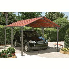 "spanish looking carports | 11' 1"" X 16' 5"" Frontier Steel Carport W/ Polycarbonate Panels"