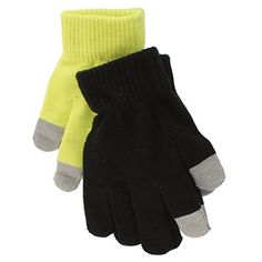 2 Pack One Size SO Touchscreen Texting Gloves for Girls