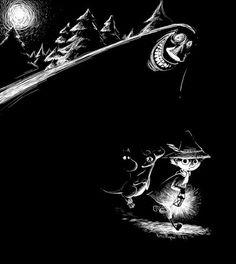 Moomin Fan - Google+ Moomin Wallpaper, Moomin Valley, Aubrey Beardsley, Mediums Of Art, Pen Illustration, Tove Jansson, Watercolor Sketch, Cartoon Shows, White Art