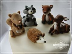 Cupcake Stylist: 30 Days of Fondant Cupcake & Cake Toppers by Cupcake Stylist: day 15 - Woodland Animals / Fox