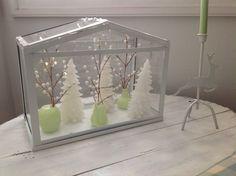 Christmas scene - Ikea terrarium