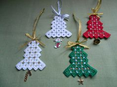 Christmas tree ornaments - stitchin fingers