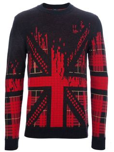 MCQ BY ALEXANDER MCQUEEN - Union Jack knit sweater by farfetch