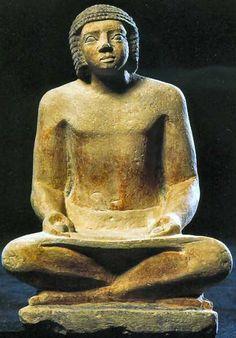 Le scribe Ptahchepsès - Statue provenant de son tombeau à Gizeh ...
