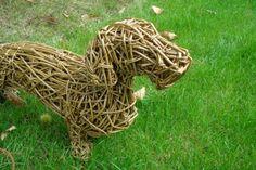 #Willow #sculpture by #sculptor Emma Walker titled: 'DACHSHUND WILLOW (life size Standing Indoor/Outdoor statue sculpture)'. #EmmaWalker