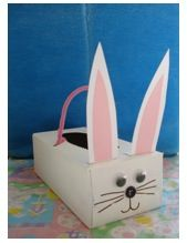 tissue box easter bunny basket (from East Coast Mommy)