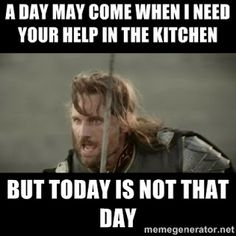 Underachiever's Guide to Being a Domestic Goddess: Silly Thanksgiving Memes.. #thanksgiving #humor #lotr #lordoftherings