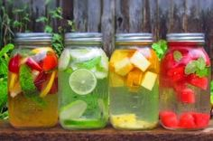 How to Make Healthy Flavored Water At Home via Greatist clean eating eat clean eat clean recipes healthy food healthy snacks healthy recipes snacks dinner recipes food